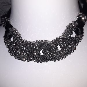 NEW YORK & CO SPARKLY RIBBON NECKLACE